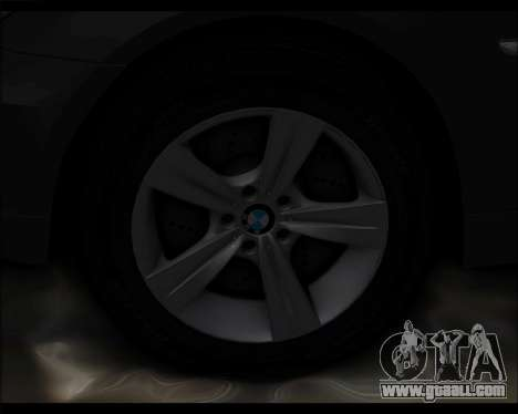 BMW 530xd stock for GTA San Andreas inner view