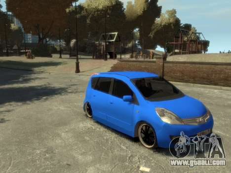 Nissan Note for GTA 4 inner view