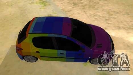Iranian Peugeot 206 Sport for GTA San Andreas inner view