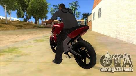 Honda Twister Stunt for GTA San Andreas back left view