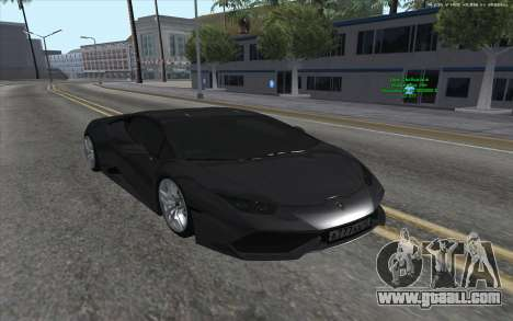 Lamborghini Huracan for GTA San Andreas right view