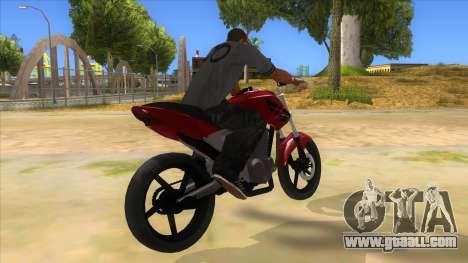 Honda Twister Stunt for GTA San Andreas right view