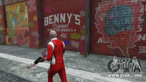 GTA 5 The body shop benny's in single mode