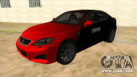 Lexus ISF for GTA San Andreas side view