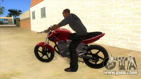 Honda Twister Stunt for GTA San Andreas left view