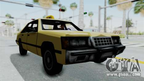 GTA Vice City - Taxi for GTA San Andreas back left view