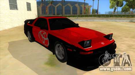 Toyota Supra 2.5Gt 1992 for GTA San Andreas upper view