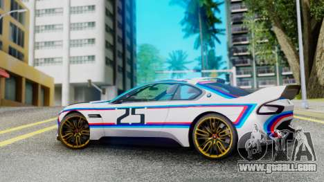 2015 BMW CSL 3.0 Hommage R for GTA San Andreas left view