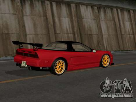 Honda NSX (NA1) Time Attack for GTA San Andreas back left view