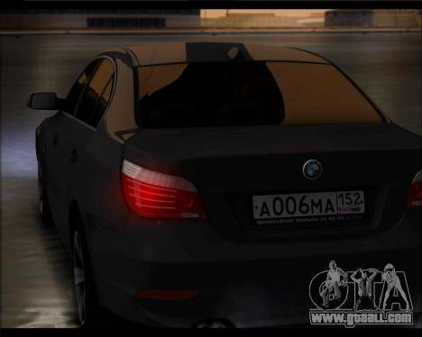 BMW 530xd stock for GTA San Andreas back left view