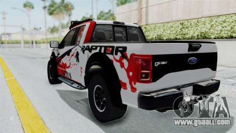 Ford F-150 Raptor 2015 for GTA San Andreas back left view