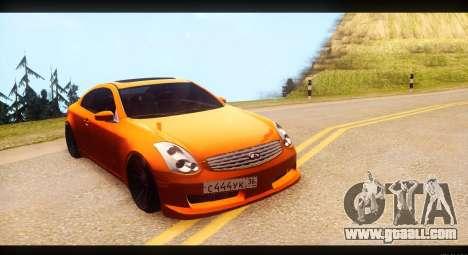 Infiniti G35 for GTA San Andreas