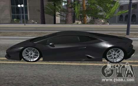 Lamborghini Huracan for GTA San Andreas left view