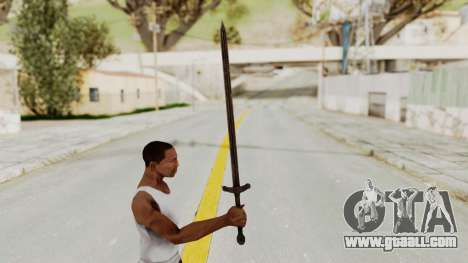 Skyrim Iron Sword for GTA San Andreas third screenshot