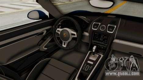 Porsche Boxster Liberty Walk for GTA San Andreas inner view