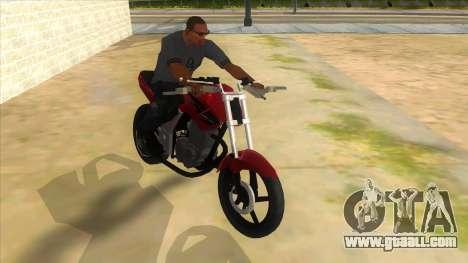 Honda Twister Stunt for GTA San Andreas back view