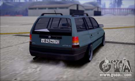 Opel Astra for GTA San Andreas back left view