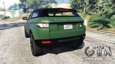 GTA 5 Range Rover Evoque v2.0 rear left side view