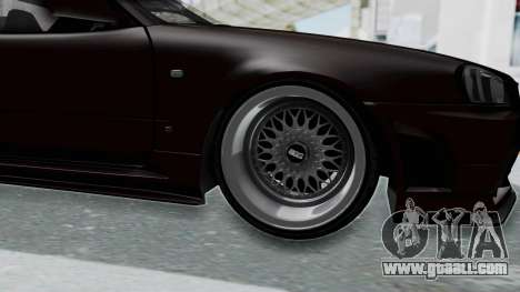 Nissan Skyline R34 GTR 2002 V-Spec II S-Tune for GTA San Andreas back view