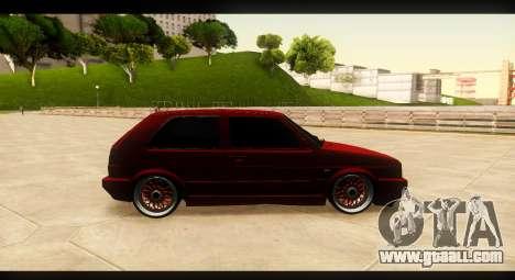Volkswagen Golf GTI Mk2 for GTA San Andreas back view