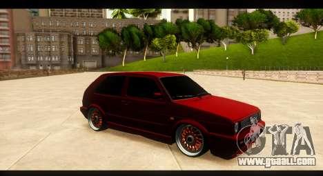 Volkswagen Golf GTI Mk2 for GTA San Andreas inner view