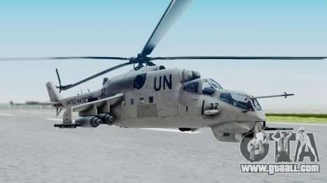 Mi-24V United Nations 032 for GTA San Andreas