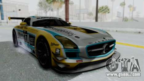 Mercedes-Benz SLS AMG GT3 PJ5 for GTA San Andreas back view