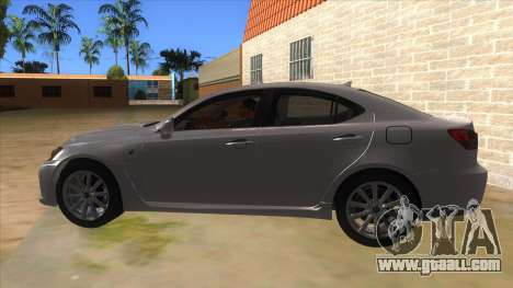 Lexus ISF for GTA San Andreas left view