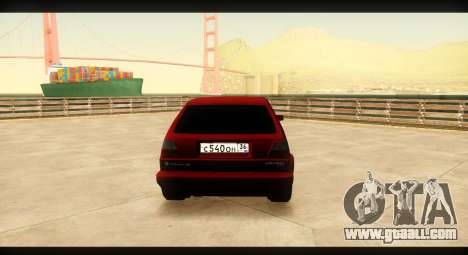 Volkswagen Golf GTI Mk2 for GTA San Andreas right view