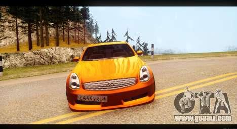 Infiniti G35 for GTA San Andreas back view