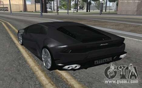Lamborghini Huracan for GTA San Andreas back left view