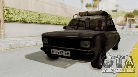 Zastava 101 for GTA San Andreas back left view
