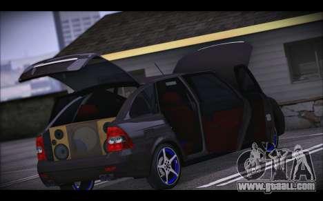 Lada Priora for GTA San Andreas bottom view