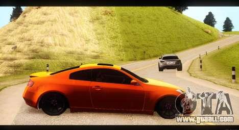 Infiniti G35 for GTA San Andreas left view