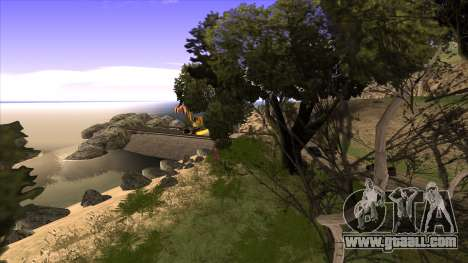 The construction of the bridge, and dense forest for GTA San Andreas seventh screenshot