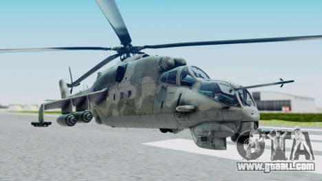 Mi-24V Croatian Air Force H-035 for GTA San Andreas