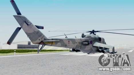 Mi-24V Croatian Air Force H-035 for GTA San Andreas left view