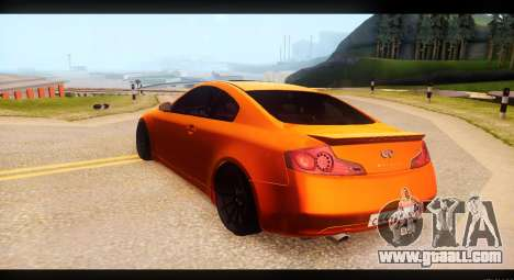 Infiniti G35 for GTA San Andreas back left view