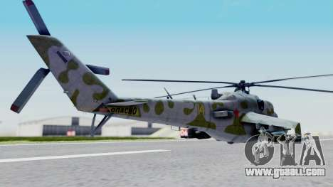 Mi-24V Soviet Air Force 14 for GTA San Andreas left view