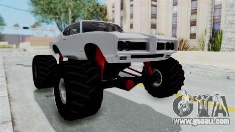 Pontiac GTO 1968 Monster Truck for GTA San Andreas