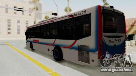 Todo Bus Pompeya II Agrale MT15 Linea 71 for GTA San Andreas left view