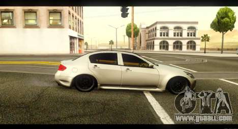 Infiniti G37 for GTA San Andreas left view