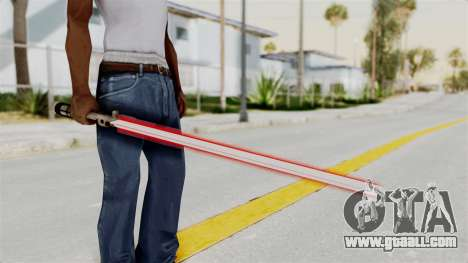 Star Wars LightSaber Red for GTA San Andreas