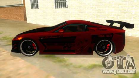Lexus LFA 2010 Yamai Sister Itasha for GTA San Andreas left view