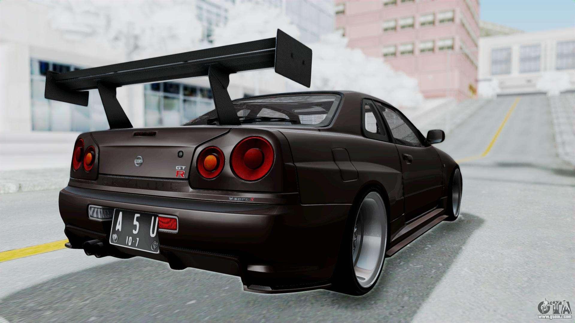 Nissan skyline r34 gtr 2002 v spec ii s tune for gta san andreas vanachro Choice Image