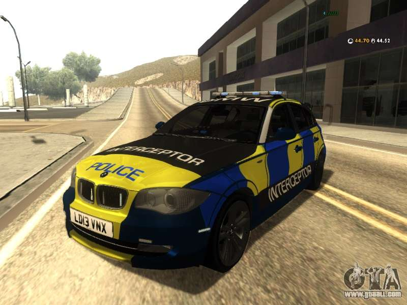 BMW 120i SE UK Police ANPR Interceptor for GTA San Andreas