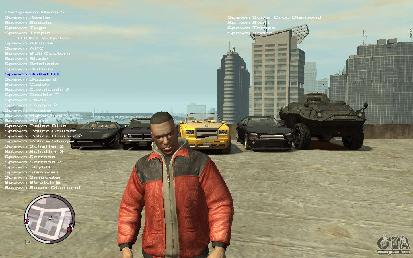 Native Trainer GTA EFLC ENG [STEAM] for GTA 4