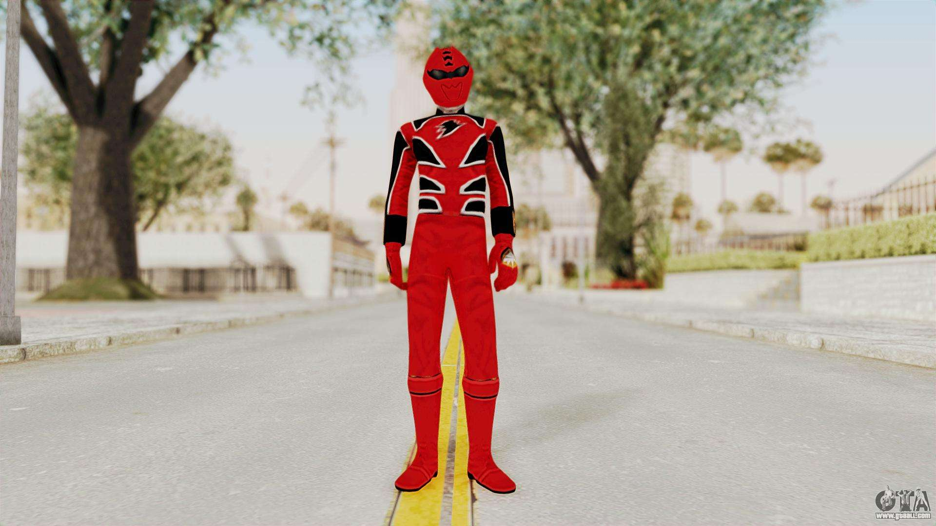 power rangers jungle fury red for gta san andreas