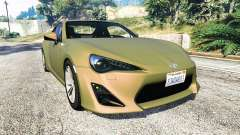 Toyota GT-86 v1.6 for GTA 5