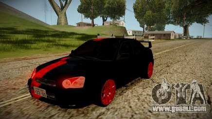 Subaru Impreza WRX STi Black Beast Japan for GTA San Andreas